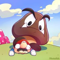 Goomba Had Enough by WombatRolls