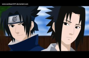 Sasuke: 12 Years and 17 Years by Warbaaz1411