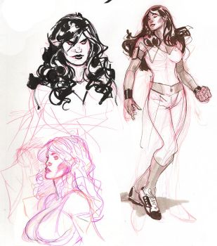 Red She Hulk Sketches by TerryDodson