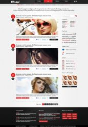 Blogge freebie blog PSD template by JakubSpitzer