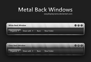 Metal Back Windows by easydisplayname