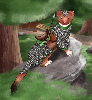 DnD Pathfinder character - Weasel by Salu-chan