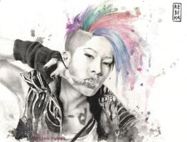 Freedom Fighter: portrait of Miyavi by RE-BE-KA