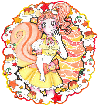Pretty Cure of Pudding, Cure Custard by sekaiichihappy