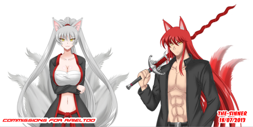 Commissions : Kitsune for Raieltoo by The-Sinnerz