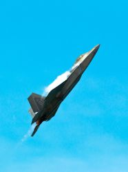 F-22 at High Alpha by spcefrk