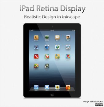New Ipad 4 Realistic Design in Inkscape by raditeputut