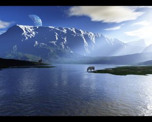 Wallpaper - White mountain by emailandthings