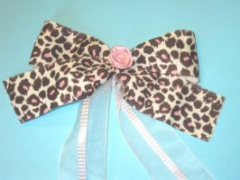 Long Jungle Flower Bow-Ribbon by PaperCadence