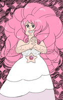 Rose Quartz doodle by ZeroMidnight