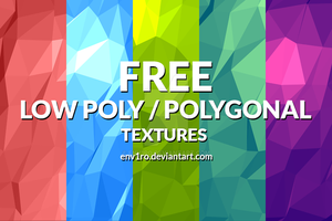 Free Polygonal / Low Poly Background Textures by env1ro