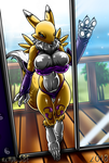 Renamon Show Her New Bikini - (COMMISSION) by theHyenasSBE