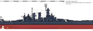 USS North Carolina BB-55 (November 1942) - Ms21 by ColosseumSB