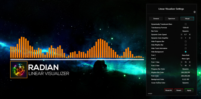 Radian Linear Visualizer 1.9.3 by FreezingClouds