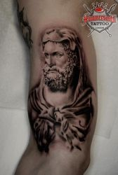Statue of Bearded Hercules by HammersmithTattoo