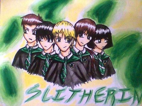 The Slitherin Gang by Snappedragon