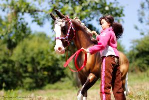 Shamus and Holly in the Pasture by CinnamonStudios