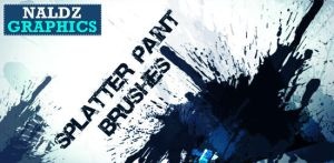 Splatter Paint Photoshop Brush by NaldzGraphics