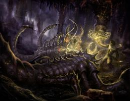 Deep in the caverns by TARGETE