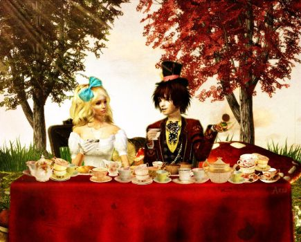 Tea Party with the Mad Hatter by Kallaria