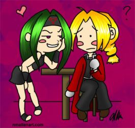 Ed and Envy Chibi Doodle by TerribleToadQueen