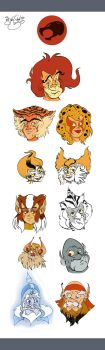 Thundercats Head Designs by Themrock