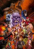 Avengers: Infinity War George Perez Inspired Art by Artlover67