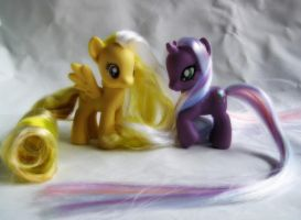 MLP Lemon Meringue and Northern Lights by SalliCostumer