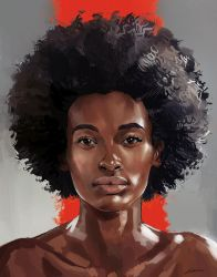 Portrait-of-an-afro-girl4 by emrealtayis