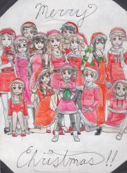 Merry Christmas!! Hetalia Girls by GMPGunso