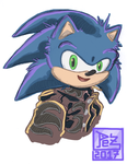 Daily sketch - N027 - 2/2 Sexys y cutes Sonics by PezAdriArts