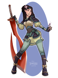 Warrior Mulan Redux by Skirtzzz