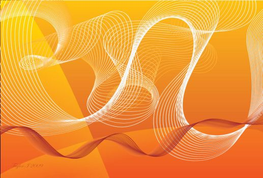 Orange Swirl Vector Background by xZelophobia