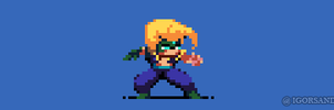 230/365 pixel art : Nash Street Fighter 5 by igorsandman