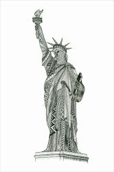 Statue of Liberty Zentangle by imthelatvian