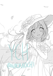 Summer sunflower YCH [closed thank you!] by naomochi