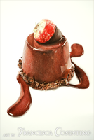 Chocolate dessert with strawberry by 19Frency94-Art