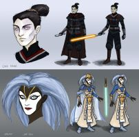Jedi concepts: Gale and Halah by AriochIV
