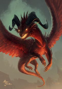 5-5 Red Dragon Token by Xovq