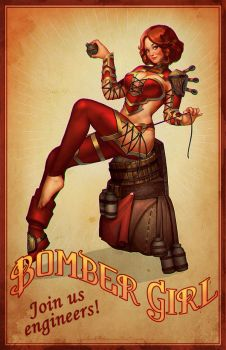 Bombergirl Pin-up by eloel