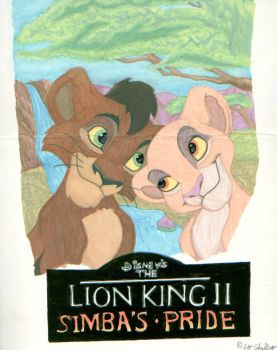 Kiara and Kovu by hellhoundess