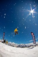 Snow, sun and snowboard by mvsfoto