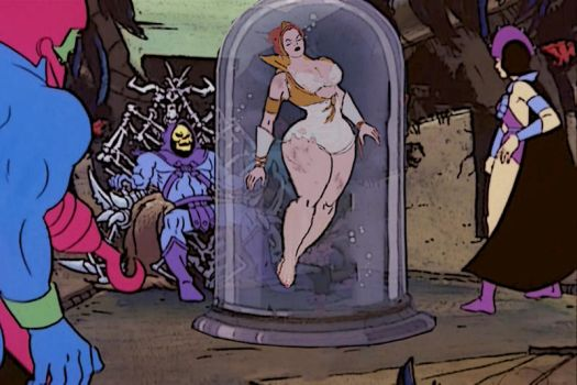 Teela in the water tank. by diego0928