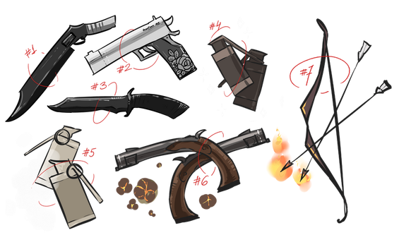 [Adoptables, Set-Price] Weapon sale [OPEN] by tshuki