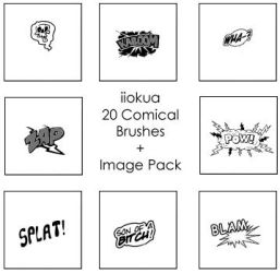 20 Comical Brushes by iiokua
