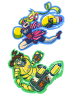 ARMS -- Ribbon and Mechanica by Ominous-Artist