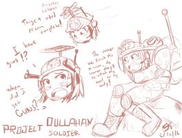 Happy Memorial Day! Dullahan Soldier Sketch by MinionKing