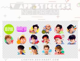 V APP STICKERS // NCT DREAM (Chewing Gum) by Lisethh