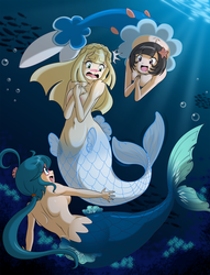 Commission -  Lillie is a Mermaid by BOAStudio