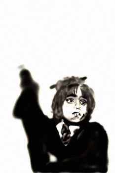 Hermione how everyone sees her... Black and White by VenetianCloud